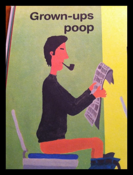 "From Stump's favorite book, Everyone Poops. ""Mama."""